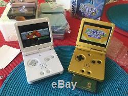 Gameboy Advance Sp V2 Ips Rétro-éclairé (ags 101) Gba Zelda Et Blanc Choix De Couleurs