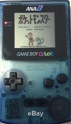 Gameboy Color Ana Nintendo Clear Blue Jeu Vidéo Console Édition Limitée Cgb-001