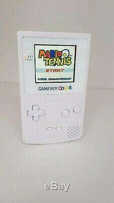 Gameboy Color Full Size Ips Rétro-éclairage Blanc Rechargeable