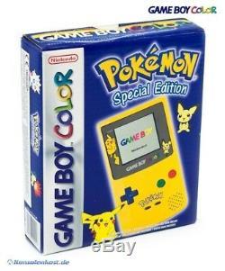 Gameboy Color Konsole # Edition Limitée Pokemon Jaune / Gelb Avec Ovp