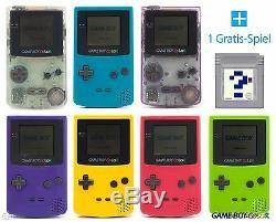 Gameboy Color Konsole (farbe Nach Wahl) + Nintendo GB Spiel Gratis Top