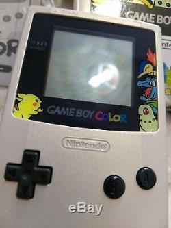 Gameboy Color Pokemon Center Edition Limitée Or Argent Box Excellent État