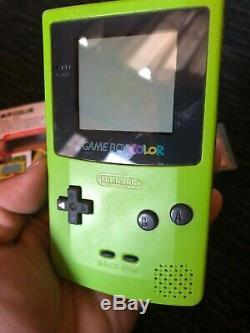 Gameboy Color Pokemon Cristal Limited Edition Système Kiwi, Complet En Boite