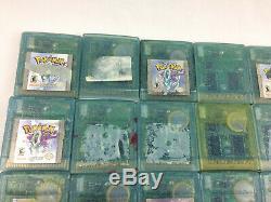 Gameboy Color Pokemon Cristal Panier Lot De 33 Pièces Non Travail Ou Pour Réparations