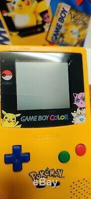 Gameboy Color Pokemon Pikachu Édition Système Portable Nettoyage Complet