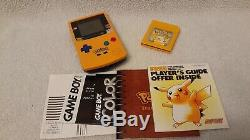 Gameboy Color Pokemon Pikachu System Edition Handheld Complet