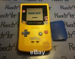 Gameboy Color Pokemon Pikachu System & Jaune Bleu Rouge Cristal Argent Or Jeux