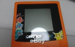 Gbc Gameboy Couleur Orange Pokemon Center Presque Neuf État Edition Limitee