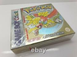 Gold Pokemon Goldene Edition Scellé Nintendo Game Boy Color 100% Original