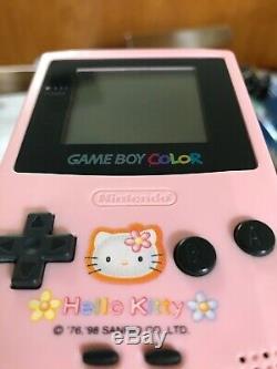 Hello Kitty Gbc Gameboy Couleur / Couleur Édition Limitée Très Rare! Cib