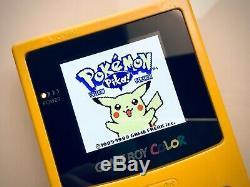 Jaune Nintendo Game Boy Color (gbc) Avec Ips Rétro-éclairage Et L'écran De Verre