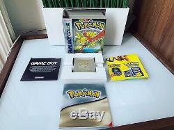 Jeu Pokémon Version Or Nintendo Game Boy Color Mint Blister Vf Ouvert