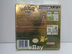 Jeu Vidéo Couleur Game Boy Nintendo Pokemon Version Or Scellée H-seam