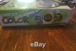 Kiwi Gameboy Couleur Pokemon Cristal Édition Limitée Bundle