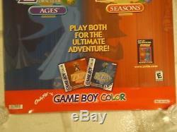 La Légende De Zelda Oracle Des Âges / Saisons Game Boy Color Store Display Poster