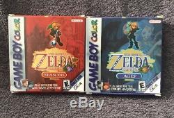 La Légende De Zelda Oracle Des Ages + Saisons (nintendo Game Boy Color) Complete
