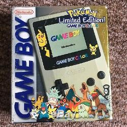 Limited Edition Pokemon Game Boy Color Or / Argent