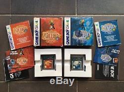 Lot 2 Jeux Nintendo Gameboy Couleur Complet Zelda Oracle Des Âges Et Des Saisons Pal Eur