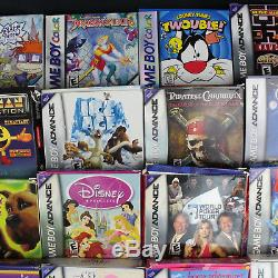 Lot 32 Nintendo Game Boy Advance Gba Et Couleur Gbc Jeux Cb Avecbox & Cib Avecmanuel