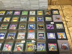 Lot 66 Gros Gameboy Couleur Et Jeux Gameboy Avec Étuis De Marque Nintendo