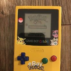 Lot De Nintendo Game Boy Couleur Pokemon Red Pickachu Bleu Or Cib Testé Travail
