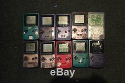 Lot Lot X10 Consoles Couleur Nintendo Gameboy Défaut Pour Pièces De Rechange Ou Réparation