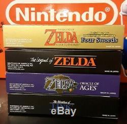 Lot Of Legend Of Zelda Gba & Gameboy Color 100% Jeux Complets Et Emballés