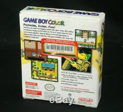 Mega Usine Rare Scellé Nos Nintendo Game Boy Système Gbc Couleur Jaune Pissenlit
