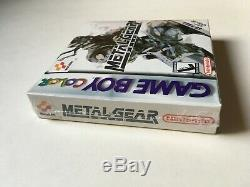 Metal Gear Solid Nintendo Game Boy Color Nouveau Très Rare Scellé Lire La Description