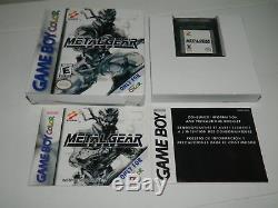 Metal Gear Solid Pour Game Boy Color Gbc Cib Complet