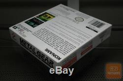 Metal Gear Solid (couleur De Game Boy, Gbc 2000) Complet! Ultra Rare! Ex