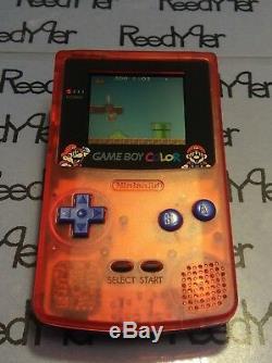 Mint Rouge Et Bleu Mario Bros. Gameboy Color Système Nintendo Personnalisé Game Boy Gbc