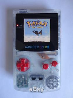 Modded Ags 101 Nintendo Game Boy Édition De Couleur Clear Système À Main Clear Backlit