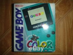 Nintendo Cgb001 Game Boy Color Teal Blue Green Nouveau Non Ouvert