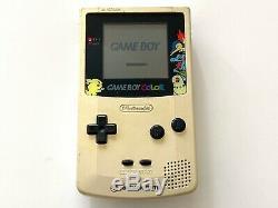 Nintendo Console Game Boy Color Pokemon Center Limitée Cgb-001 Œuvres Testées Dhl