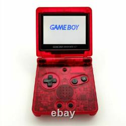 Nintendo Game Boy Advance Gba Sp Clear Red System Ags 101 Brighter Nouveau
