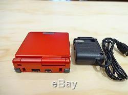 Nintendo Game Boy Advance Gba Sp Flamme Rouge Système Ags 001 Mint Nouveau