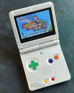 Nintendo Game Boy Advance Gba Sp Ips Mod System 10 Luminosité 101 Pride