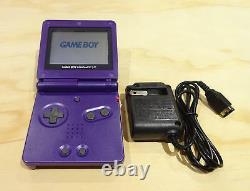 Nintendo Game Boy Advance Gba Sp Midnight Purple System Ags 001 Mint Nouveau