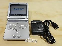 Nintendo Game Boy Advance Gba Sp Système Platinum Silver Ags 001 Mint Nouveau