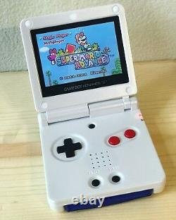 Nintendo Game Boy Avance Gba Sp Nes White System Ags 101 Brighter Mint