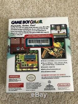 Nintendo Game Boy Color 1999 Teal Cgb-001 Nouveau Dans La Boîte Scellés