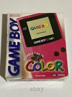 Nintendo Game Boy Color Berry Excellent Complet Dans L'état De La Boîte