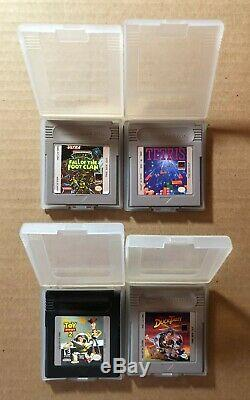 Nintendo Game Boy Color Console Portable Avec La Boîte + 4 Jeux (kiwi / Lime Green) Cib