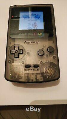 Nintendo Game Boy Color / Couleur Lumière (ips LCD Rétro-éclairage Mod) Libre De Bleu Pokemon