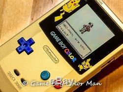 Nintendo Game Boy Color Édition Limitée Or Console Uniquement À L'état Neuf
