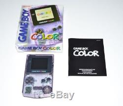 Nintendo Game Boy Color En Transparent Lila + Ovp Neuwertig