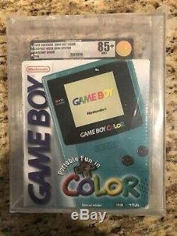 Nintendo Game Boy Color Lancement Edition Bleu Minuit Bleu Sarcelle Vga 85+ Or Nouveau