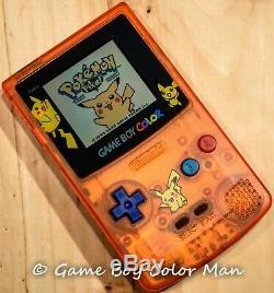 Nintendo Game Boy Color Orange Pikachu Limited Edition Console À La Menthe Seulement