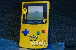 Nintendo Game Boy Color Pikachu Pokémon Edition Limitée Brand New Europeo + Sac
